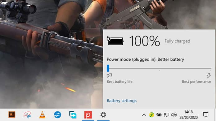 changing power modes to increase battery life