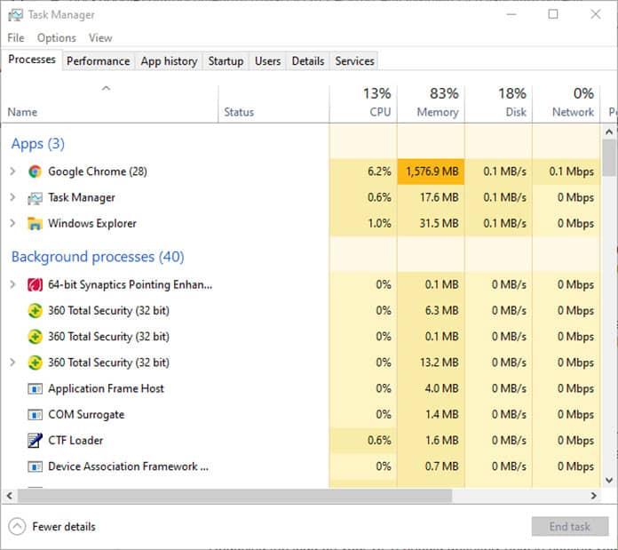 close programs to cool down laptop